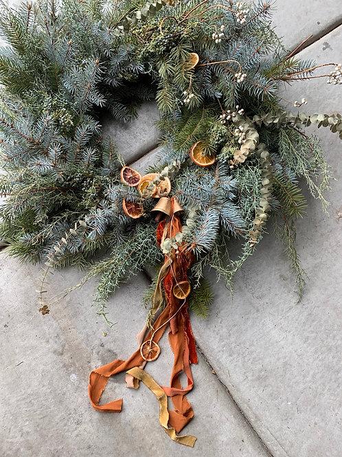 Large Full Round Holiday Wreath