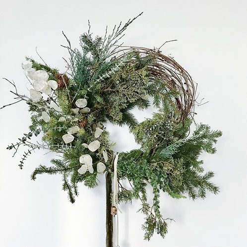 Large Asymmetrical Holiday Wreath