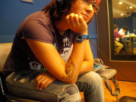Recording at SONY Music Entertainment Tokyo, Japan 2009