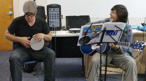 Billy Hawn + Mayuka jammin at Rockband 101