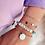 Thumbnail: Bracelet Laura (plaqué or & perles émaillées)