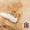 Thumbnail: Bague triple Tiphany (acier chirurgical plaqué or et pierres fines)