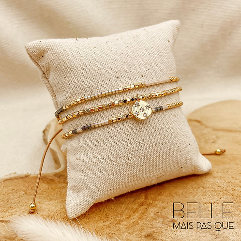 Bracelet Maélie (perles de miyuki & nylon ciré)