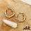 Thumbnail: Boucles d'oreilles Torsade (plaqué or)