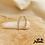 Thumbnail: Boucles de lobe Laurence (plaqué or & oxydes de zirconium)