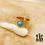 Thumbnail: Bague Apoline (acier chirurgical plaqué or & pierre fine)