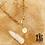 Thumbnail: Collier Zen (acier chirurgical plaqué or)