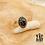 Thumbnail: Bague Beetle (acier chirurgical plaqué or gris et pierre fine)