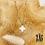 Thumbnail: Collier Maïssa (acier chirurgical plaqué or & pierre fine)