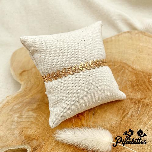Bracelet Feuilles (plaqué or)