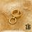 Thumbnail: Bague Ginza (acier chirurgical plaqué or)