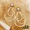 Thumbnail: Boucles d'oreilles Raphaëlle (acier chirurgical plaqué or)