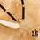 Thumbnail: Collier Ronna (acier chirurgical plaqué or & pierre fine)