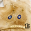 Thumbnail: Boucles d'oreilles Cassiopée (acier chirurgical plaqué or & pierre fine)