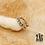 Thumbnail: Bague d'oreille Ea (acier chirurgical plaqué or gris & oxydes de zirconium)