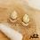Thumbnail: Boucles d'oreilles Shana (acier chirurgical plaqué or)