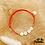 Thumbnail: Bracelet Message (élastique orange flashy)