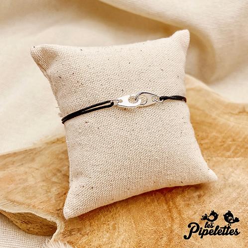 Bracelet cordon personnalisable Sienna (argent & plaqué or)