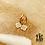 Thumbnail: Boucles d'oreilles San Pietro (acier chirurgical plaqué or)