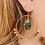 Thumbnail: Boucles d'oreilles Liv (acier chirurgical plaqué or & pierre fine)