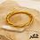 Thumbnail: Jonc bouddhiste Tashi (plastique recyclé doré rempli de feuilles d'or)