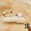 Thumbnail: Boucles d'oreilles Carré (acier chirurgical plaqué or gris & nacre)