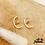 Thumbnail: Boucles d'oreilles Arca (plaqué or)