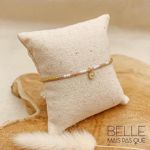 Bracelet Loka (plaqué or & perles de myuki)