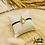 Thumbnail: Bracelet cordon personnalisable Telma (argent & plaqué or)