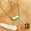 Thumbnail: Collier Mantras turquoise (acier chirurgical plaqué or)