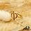 Thumbnail: Bague Knot (plaqué or)