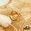 Thumbnail: Bague Cercle Évidé (plaqué or)
