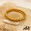 Thumbnail: Jonc bouddhiste Zopa (plastique recyclé doré rempli de feuilles d'or)