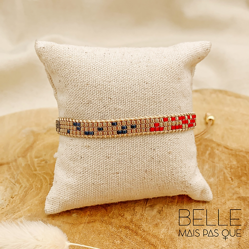 Bracelet Tétris (plaqué doré)