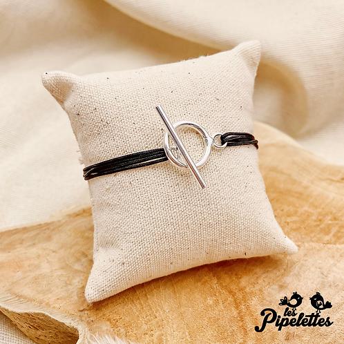 Bracelet cordon personnalisable Telma (argent & plaqué or)
