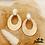 Thumbnail: Boucles d'oreilles Stone (acier chirurgical plaqué or et pierres fines)