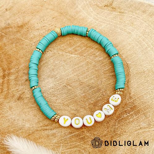 Bracelet You & Me (perles de polymère)