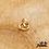 Thumbnail: Boucles d'oreilles Stacy (plaqué or & oxydes de zirconium)