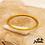 Thumbnail: Jonc bouddhiste Dolma (plastique recyclé doré rempli de feuilles d'or)