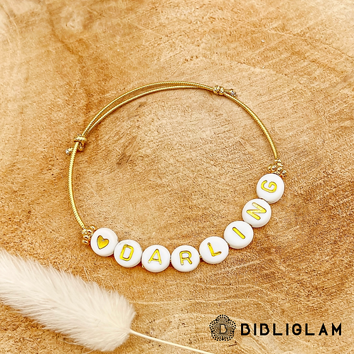 Bracelet Darling (élastique doré)