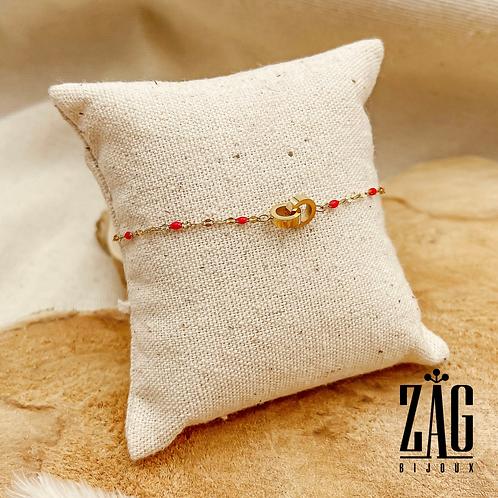 Bracelet Borgia couleurs personnalisables (acier chirurgical plaqué or)
