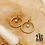 Thumbnail: Boucles d'oreilles Charlotte (acier chirurgical plaqué or & pierre fine)