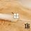 Thumbnail: Bague Boon (acier chirurgical plaqué or & oxyde de zirconium)