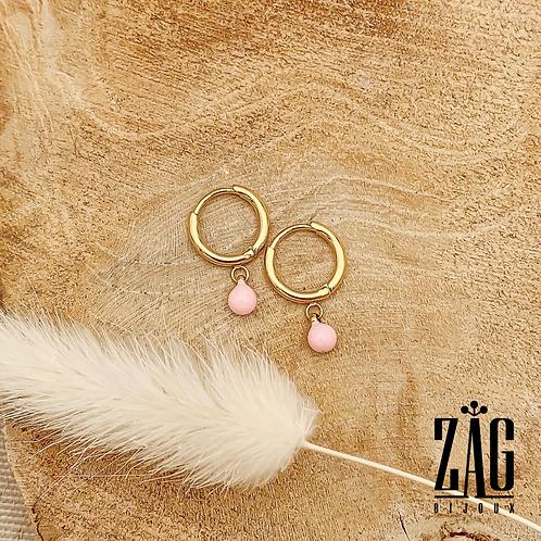 Boucles d'oreilles Élé de plusieurs couleurs (acier chirurgical plaqué or)