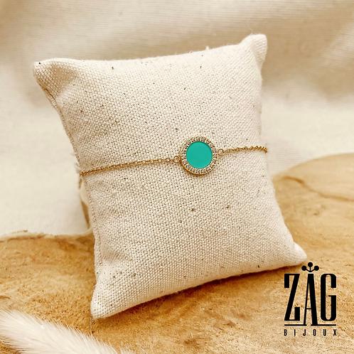 Bracelet Fanny (acier chirurgical plaqué or & oxydes de zirconium)