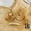 Thumbnail: Boucles d'oreilles Héliophile (acier chirurgical plaqué or & pierre fine)