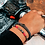 Thumbnail: Bracelet Jean (acier chirurgical plaqué or gris & perles de polymères)