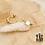 Thumbnail: Boucles d'oreilles Carré (acier chirurgical plaqué or & nacre)