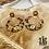 Thumbnail: Boucles d'oreilles Cheetah (acier chirurgical plaqué or)