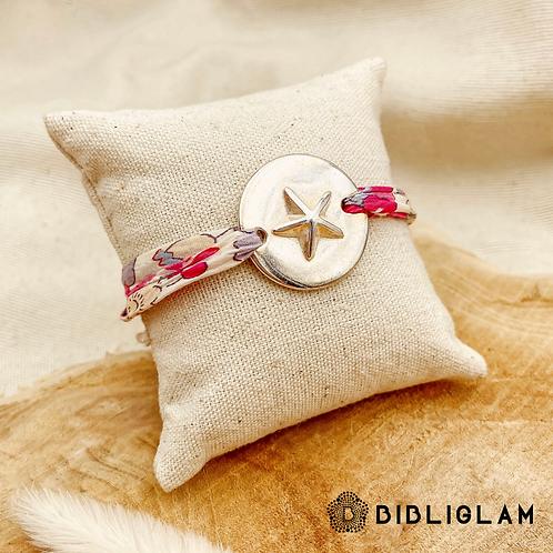 Bracelet Liberty Fleuri (métal argenté)